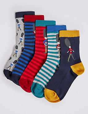 5 Pack Cotton Rich Freshfeet™ Socks (12 Months - 14 Years)