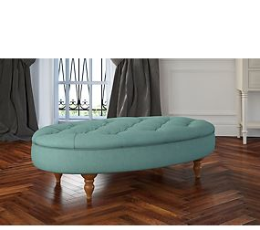 Small Oval Button Footstool