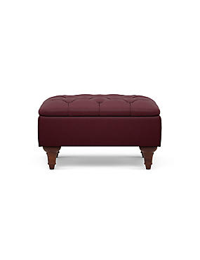 Highland Button Storage Footstool