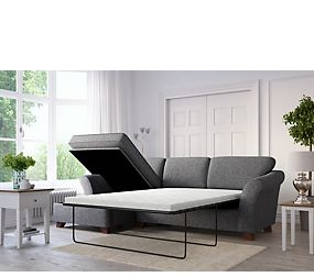 Abbey Corner Chaise Storage Sofa Bed (Left Hand)