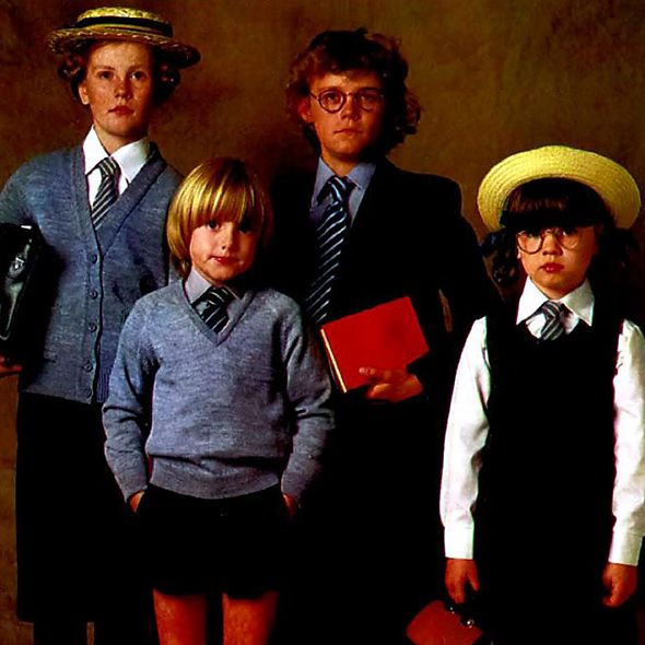 Catalogue image of 1980s schoolchildren in uniform
