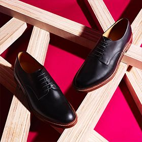 Mens smart derby shoes