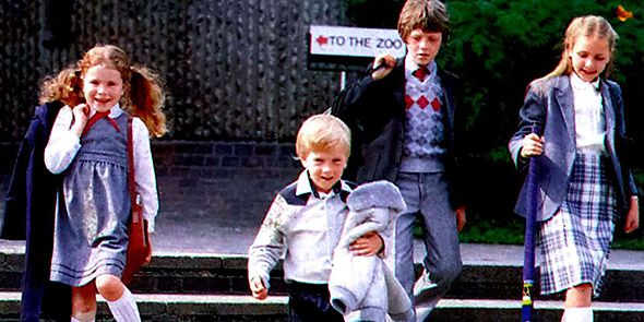 1980s schoolchildren in uniform