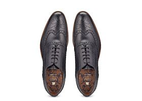 Leather layered sole mens brogue shoes