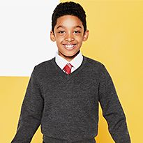Boy in school jumpers