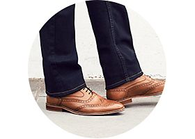Mens brogues and jeans