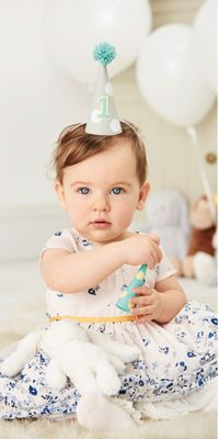 Baby girl in pretty party dress