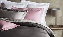 Plain bed linen in different colours