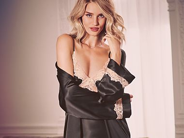 Rosie in silk lingerie