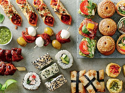 Party food, canapes & sandwiches