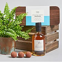 Plant with truffles and drink gift