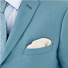 Close up of mens suit and pocket square
