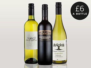 Selected wines £6 a bottle