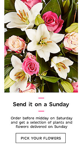 Flowers now available for Sunday delivery