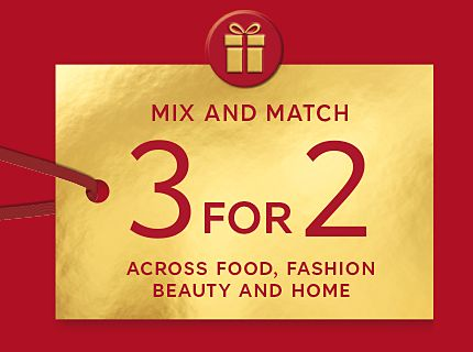 3 for 2 mix and match gifts