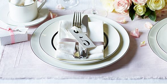 The Manhattan dinner set from our range of tableware