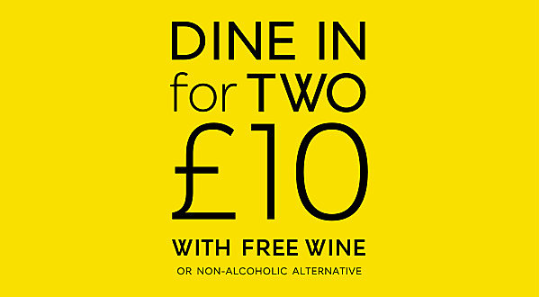 Dine In for two with free wine
