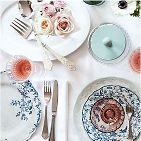 Dovecote floral crockery and optic picnicware