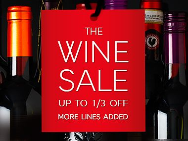 Up to a 1/3 off our wine sale