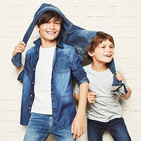 Two boys in denim
