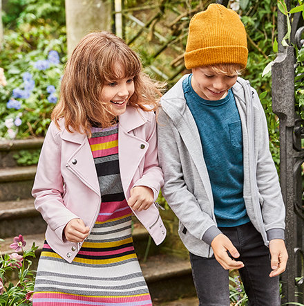 Girl and boy modelling the latest M&S daywear range