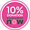 10%Donationbreastcancernow