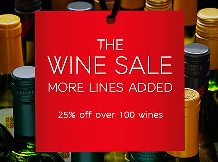 Wine sale - save 25%