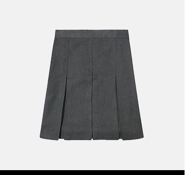 Two-pack girls pleated skirt