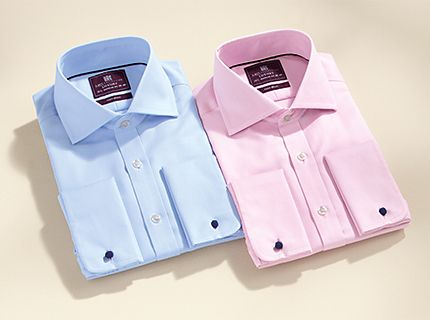 Two mens formal shirts