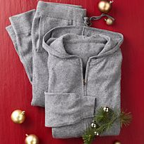 Grey cashmere loungewear