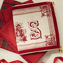 White and red table cloth