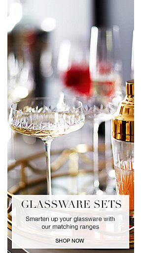 Cocktail glasses and champagne flutes
