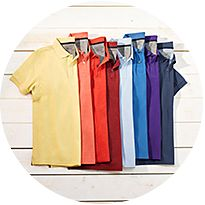 Selection of polo shirts
