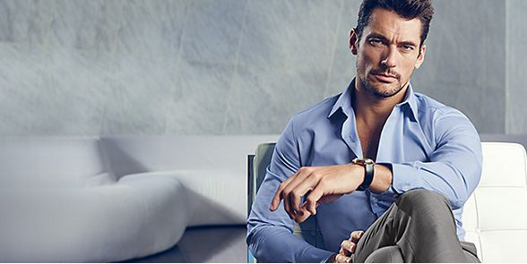 David Gandy wearing a formal shirt