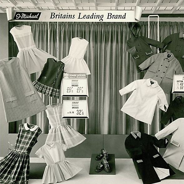 Black and white image of 1960s shop window