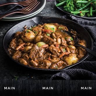 Gastropub beef bourguignon