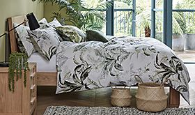 Botanical print bed set