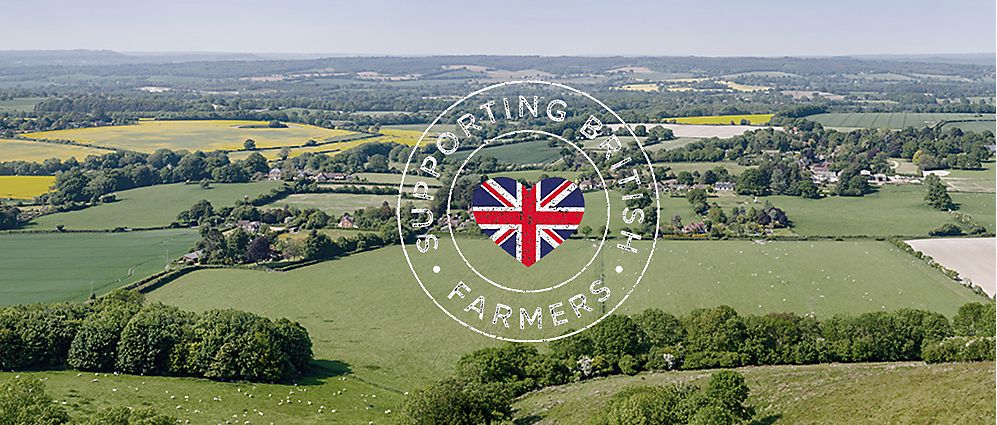 Farmland and Supporting British Farmers logo