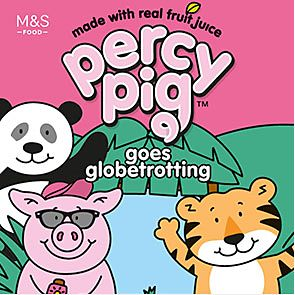 Percy Pig goes globetrotting sweet packet