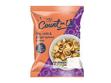 Count On Us soy, chilli & ginger quinoa waves