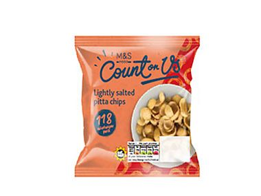 Count On Us lightly salted pitta chips