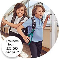 Boys wearing M&S summer uniform