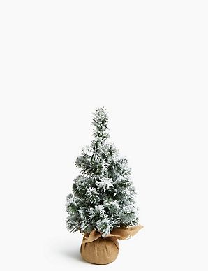 How Many Lights Per Foot Of Christmas Tree.1 5ft Pre Lit Snowy Christmas Tree M S