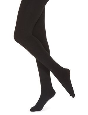 9bebb256a8b0a4 100 Denier Thermal Fleece Lined Opaque Tights | M&S Collection | M&S