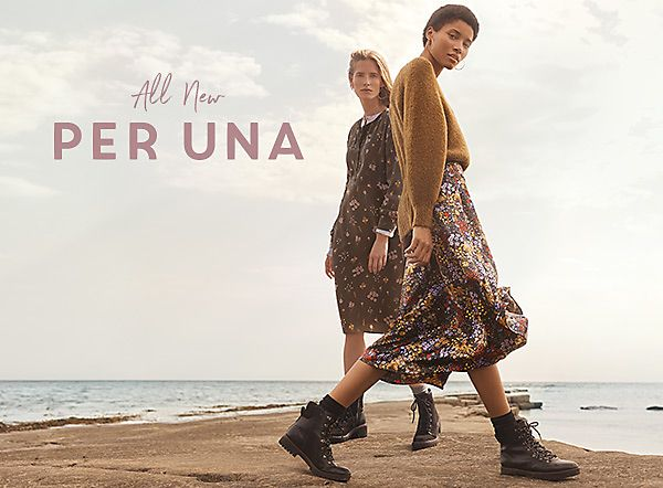 Models wear all-new Per Una collection