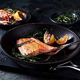 Salmon and greens