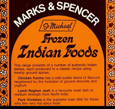 1970s advert for M&S Indian range