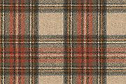 Turnberry Check, red mix†* 100% wool