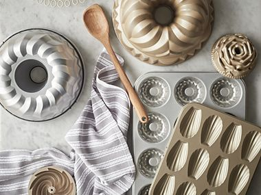 Selection of bundt tins and baking trays