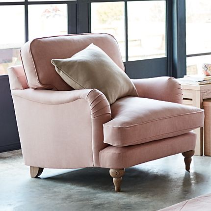 Rochester armchair in pale pink